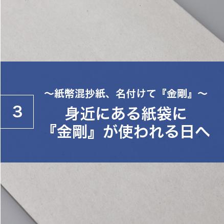 ~紙幣混抄紙、名付けて『金剛』~身近にある紙袋に『金剛』が使われる日へ